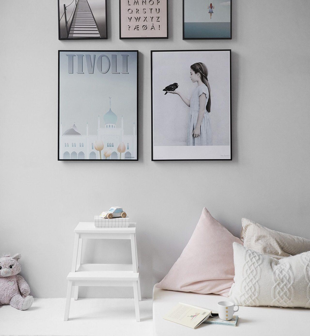 minimalistische wit interieur